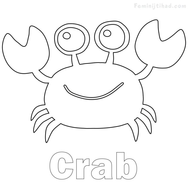 Crab Coloring Pages Crab Coloring Pages Fresh New Printable Tean Of Pictures