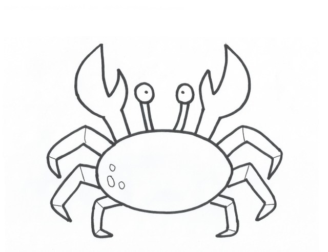 Crab Coloring Pages Free Printable Crab Coloring Pages For Kids New Page Bitslice