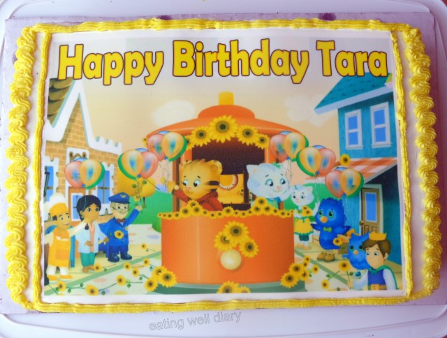 Daniel Tiger Birthday Cake Daniel Tiger Themed Chocolate Birthday Cake And Cupcakes Egg Free
