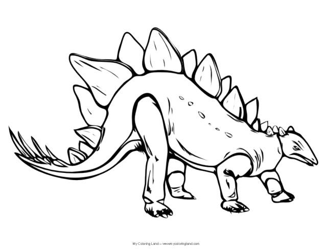 Dinosaur Coloring Pages Dinosaur My Coloring Land