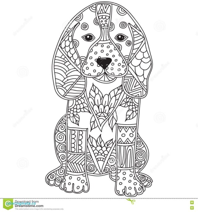 Dog Coloring Pages For Adults Dog Coloring Pages For Adults De Stress With Dogs Downloadable 10