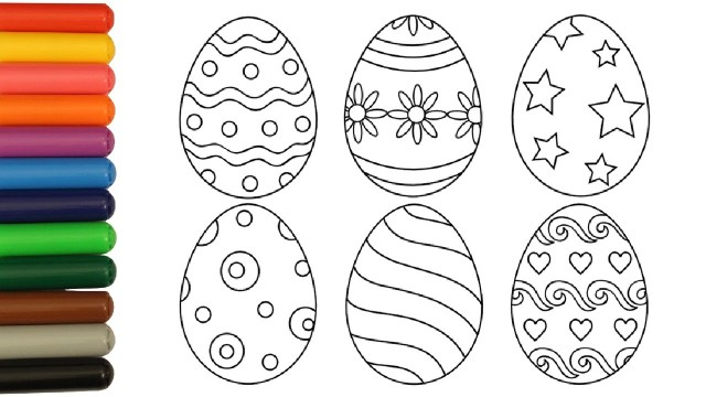 Easter Egg Coloring Page Coloring Pages Easter Eggs Coloring Video For Kids Youtube