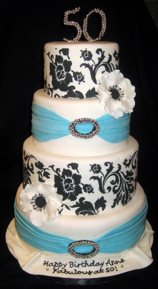 Elegant Birthday Cakes Elegant 50th Birthday Cake Cakecentral