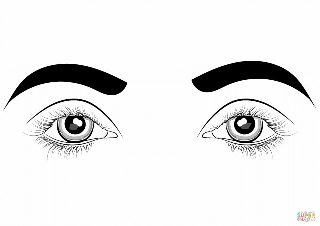 Eye Coloring Page Eyes Coloring Page Free Printable Coloring Pages