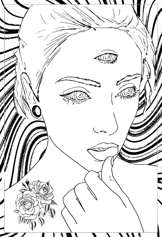 Eye Coloring Page Third Eye Coloring Pages For Adults