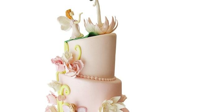 Fairy Birthday Cake Pink Ombre Fairy Birthday Cake Youtube