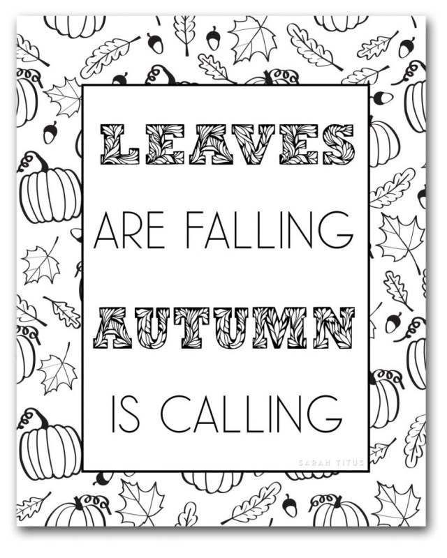 Fall Coloring Page Free Fall Coloring Pages To Color Sarah Titus