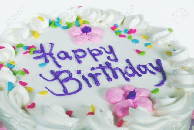 Fancy Birthday Cakes Fancy Birthday Cake With Candy Sprinkles Stock Photo Picture And