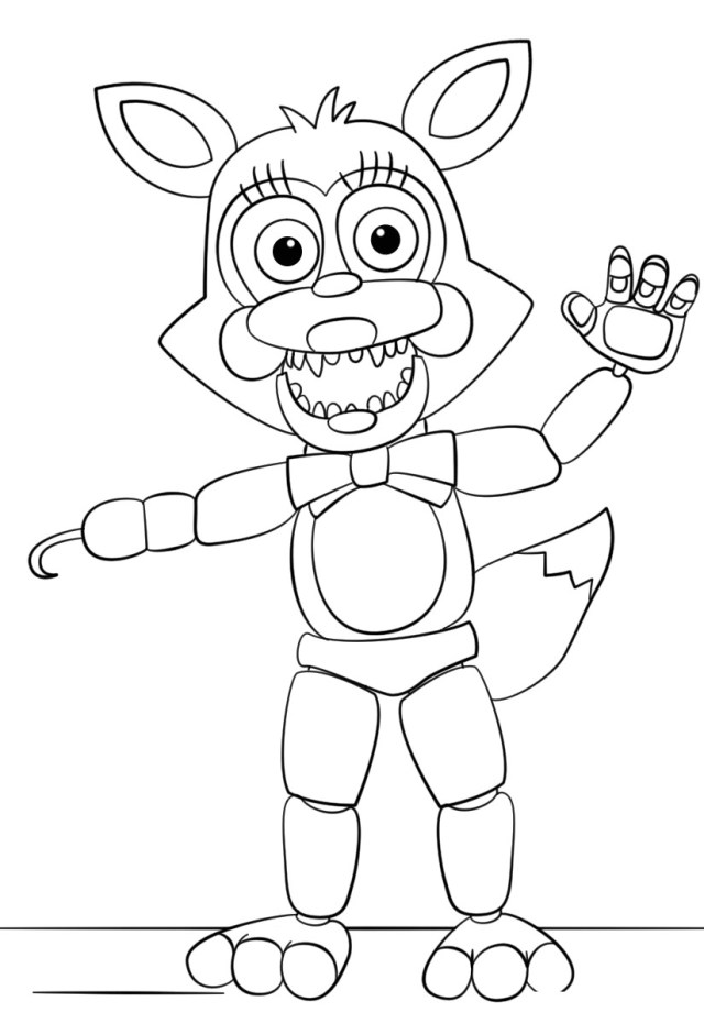 Five Nights At Freddy's Coloring Pages Coloring Pages Free Printable Five Nights At Freddy S Coloring