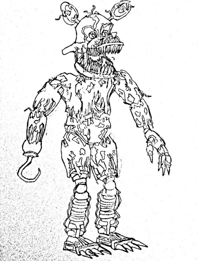 Five Nights At Freddy's Coloring Pages Five Nights Of Freddy Coloring Pages Coloring Pages For Kids