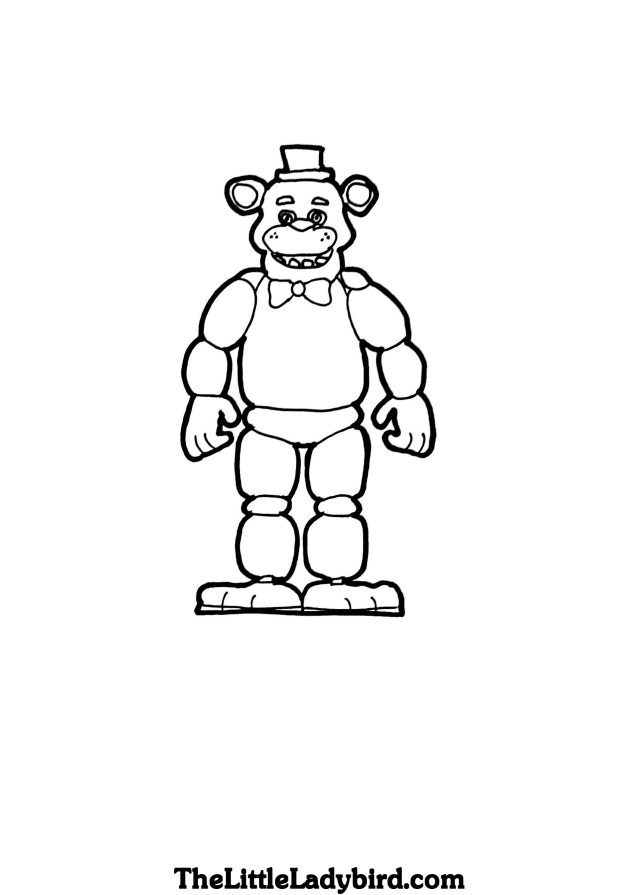 Five Nights At Freddy's Coloring Pages Free Freddy Fazbear Coloring Page Thelittleladybird