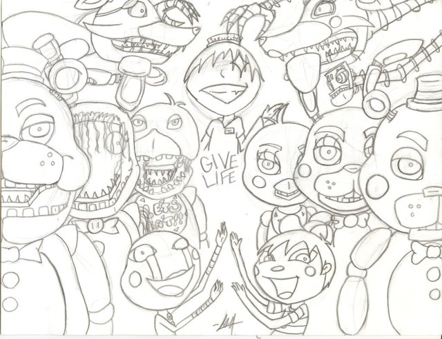 Five Nights At Freddy's Coloring Pages Last Chance Fnaf 4 Coloring Pages All Characters Five Nights At