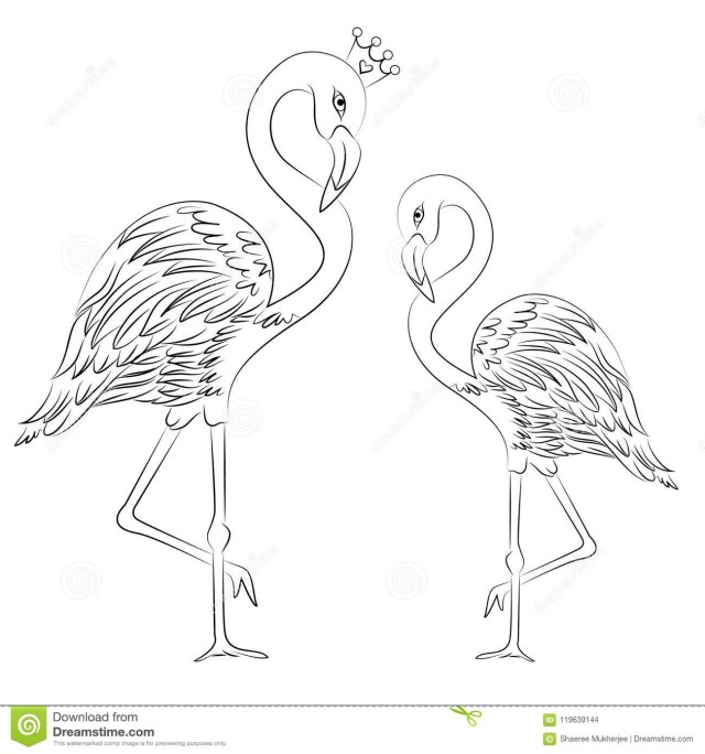 Flamingo Coloring Pages 11 Wonderful Flamingo Drawing For Kids Gallery Kids Drawing