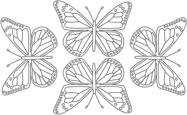 Free Butterfly Coloring Pages Butterfly Coloring Pictures