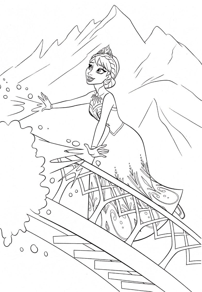 Frozen Elsa Coloring Pages Walt Disney Coloring Pages Queen Elsa Walt Disney Characters Photo