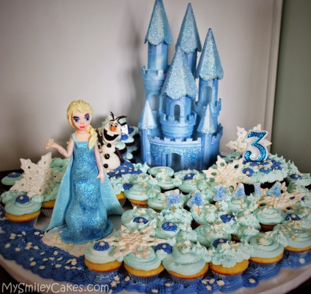 Frozen Themed Birthday Cake 11 Frozen Themed Birthday Cupcakes Photo Frozen Cupcake Idea