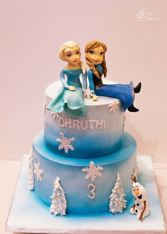 Frozen Themed Birthday Cake Zoeys Bakehouse Princess Birthday Cake Hyderabad