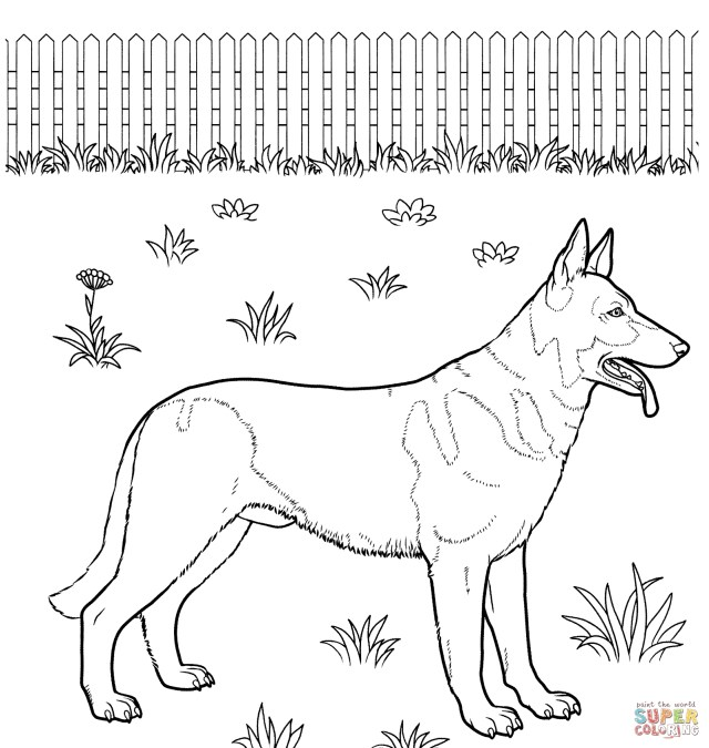 German Shepherd Coloring Pages Fresh German Shepherd Coloring Pages Free Coloring Pages