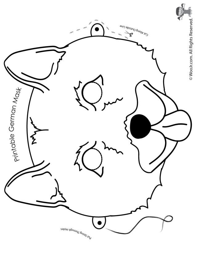 German Shepherd Coloring Pages German Shepherd Mask Coloring Page Woo Jr Kids Activities