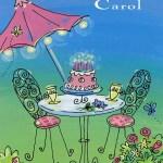 Happy Birthday Carol Cake Carol