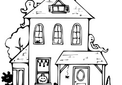 Haunted House Coloring Pages Haunted House Coloring Page Free Printable Coloring Pages