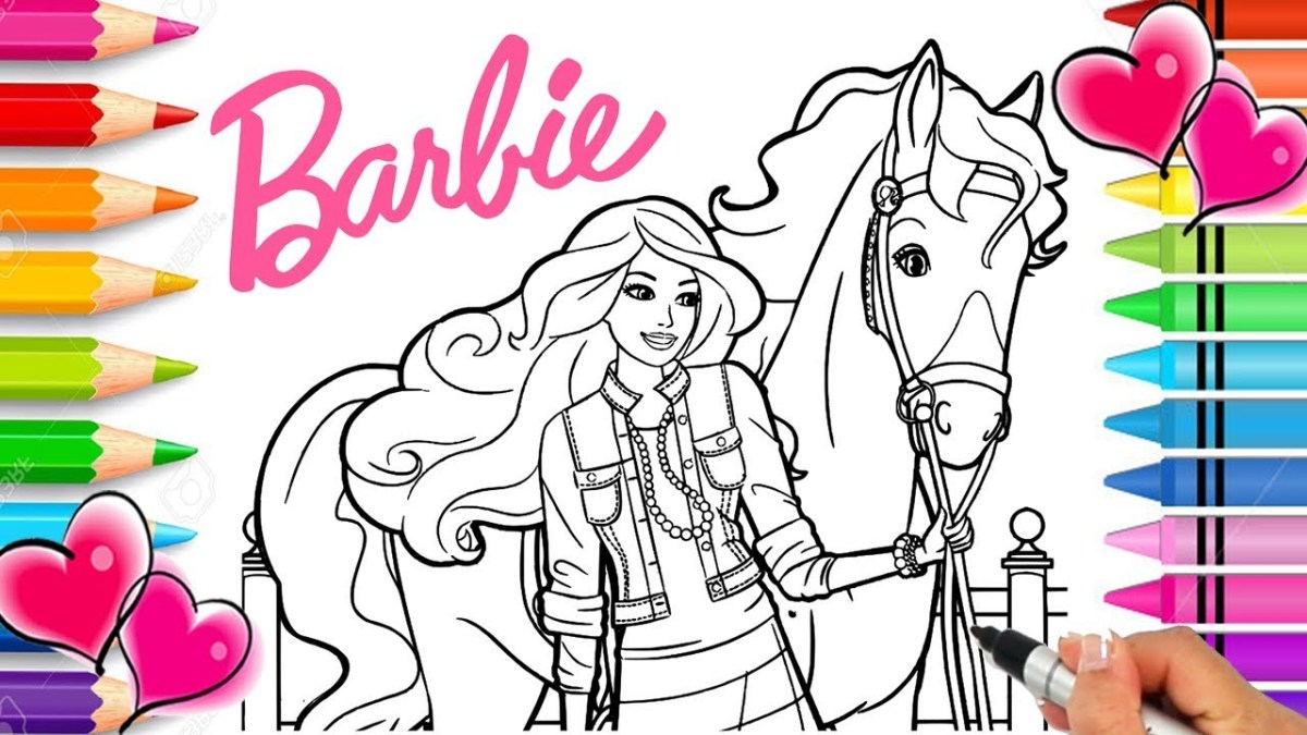 Horse Coloring Page Barbie Horse Coloring Page Barbie Coloring Book Printable Barbie