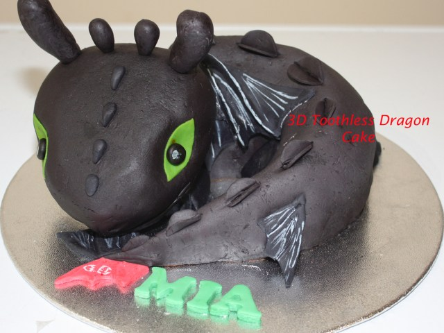 How To Train Your Dragon Birthday Cake 3d Toothless How To Train Your Dragon Birthday Cake Cakecentral