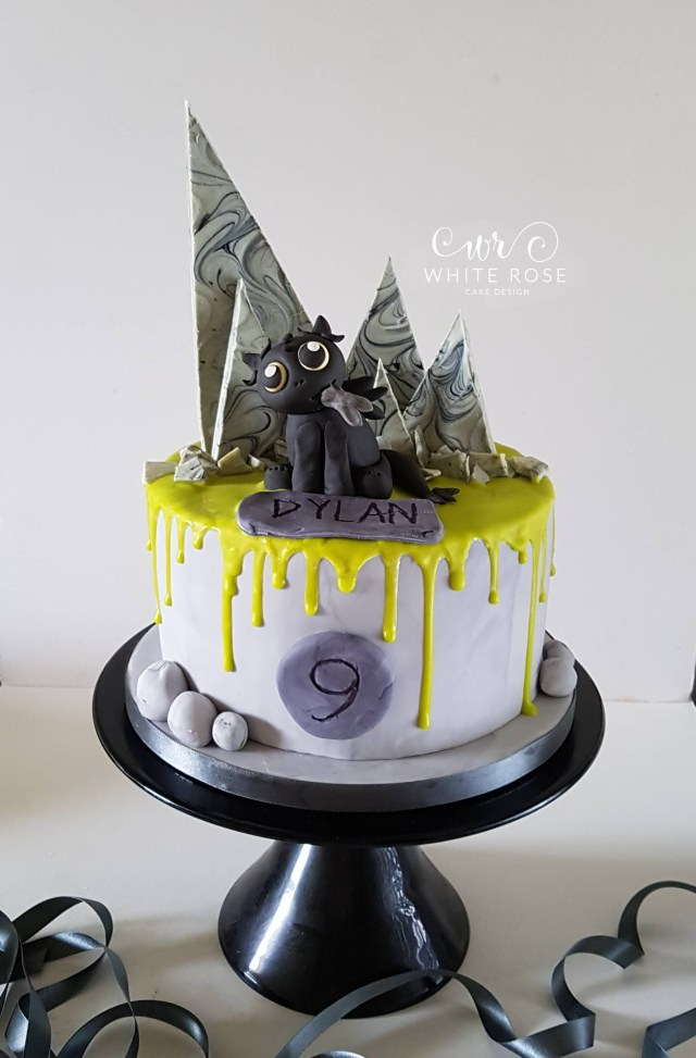 How To Train Your Dragon Birthday Cake Toothless How To Train Your Dragon 9th Birthday Cake White Rose
