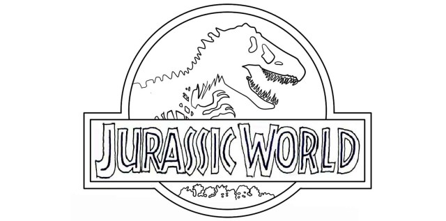 Jurassic World Coloring Pages Jurassic World Logo Coloring Pages To Printable Jurassic World