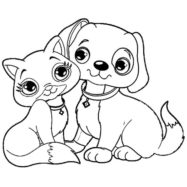 Kittens Coloring Pages Coloring Pages Coloring Pages Fabulous Puppy And Kitten Hurry Of