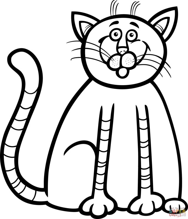 Kittens Coloring Pages Cute Kitten Coloring Page Free Printable Coloring Pages