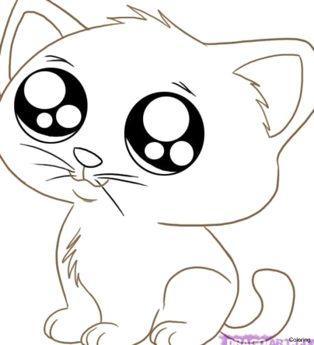 Kittens Coloring Pages Cute Kitten Coloring Pages 4 Thanhhoacar