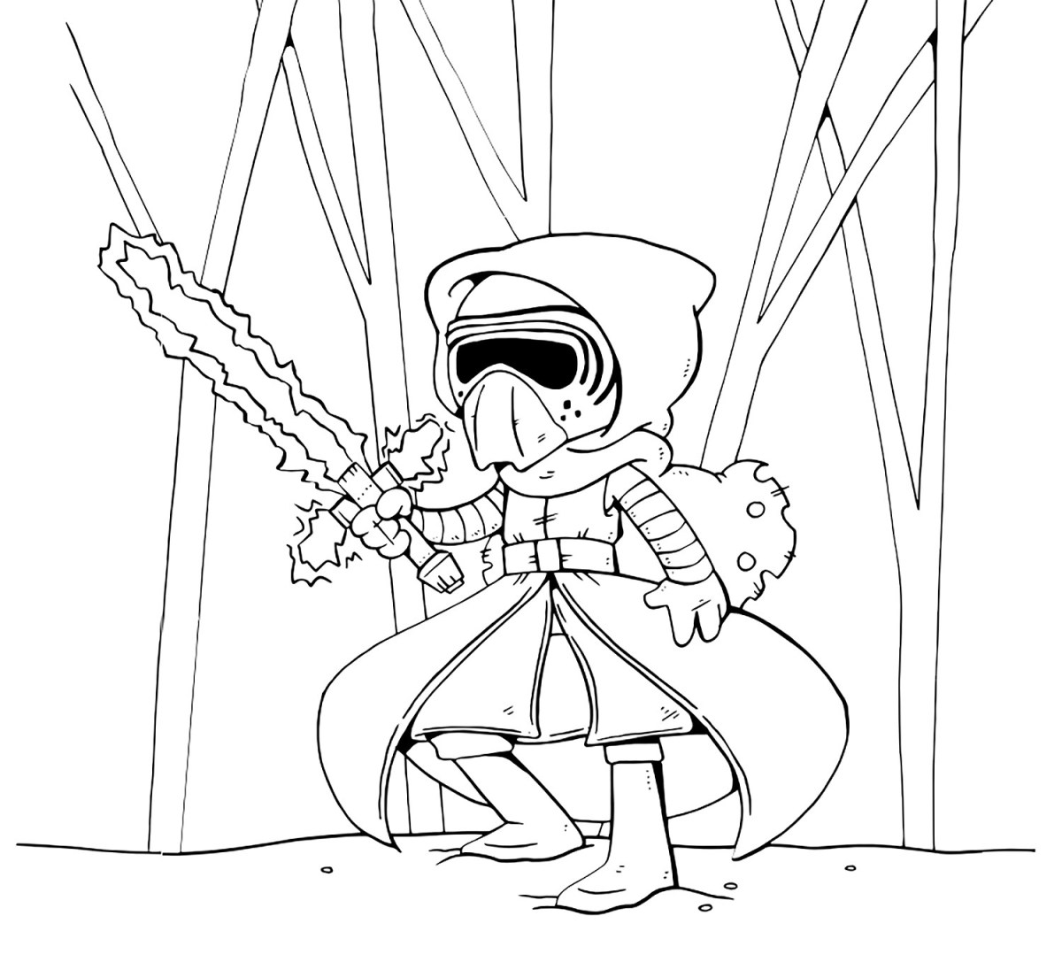 Kylo Ren Coloring Page Kylo Ren In Star Wars The Last Jedi Coloring Pages Get Coloring