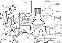 Makeup Coloring Pages Makeup Coloring Pages Lezincnyc