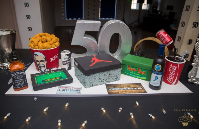 Mens Birthday Cake Bespoke 50th All Things Favourite Luxury Birthday Cake Luxury