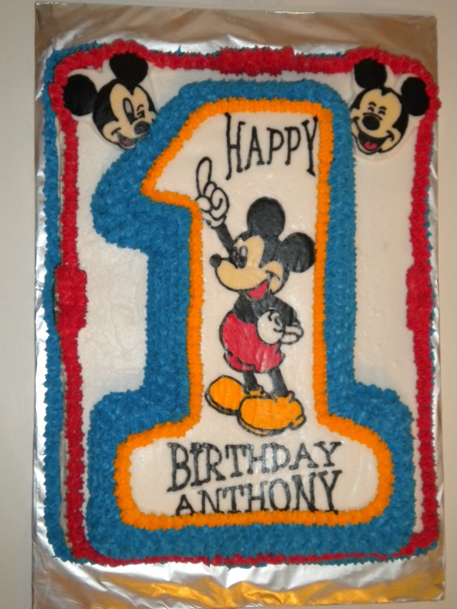 Mickey Mouse 1St Birthday Cake 3d Mickey Mouse 1st Birthday Cake Erriberricakes