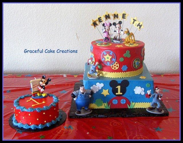 Mickey Mouse 1St Birthday Cake Disney Mickey Mouse Club House 1st Birthday Cake Grace Tari Flickr