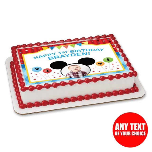 Mickey Mouse 1St Birthday Cake Mickey Mouse 1st Birthday Party Supplies Party Supplies Canada