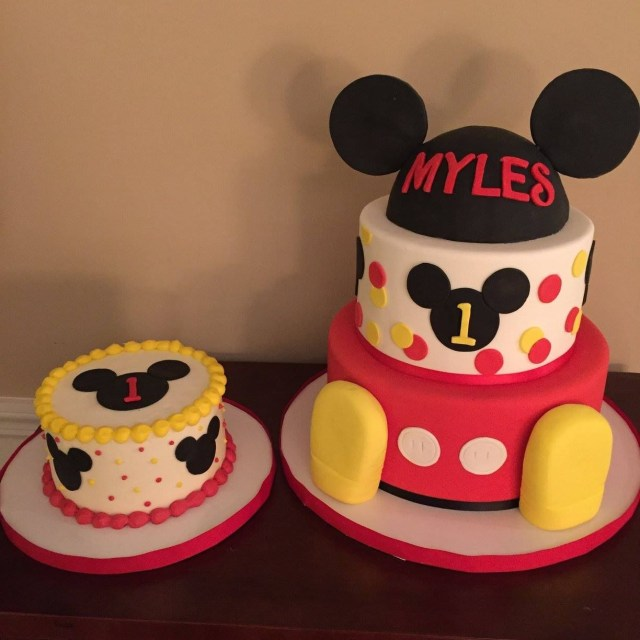 Mickey Mouse 1St Birthday Cake Mickey Mouse Club House First Birthday Cakes Calynne Kaden 1st
