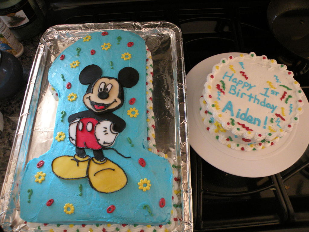 Mickey Mouse 1St Birthday Cake Mickey Mouse First Birthday ...