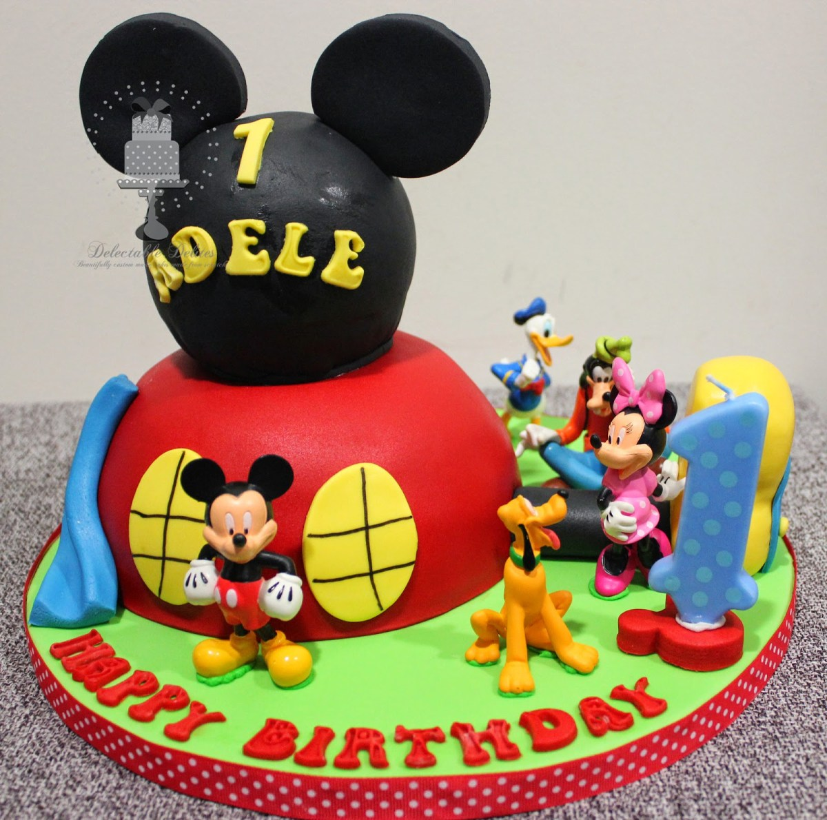 Mickey Mouse Clubhouse Birthday Cake Delectable Delites Mickey Mouse Clubhouse Cake For Adeles 1st Birthday