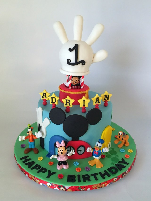 Mickey Mouse Clubhouse Birthday Cake Disneys Mickey Mouse Clubhouse 1st Birthday Cake With Hot Air