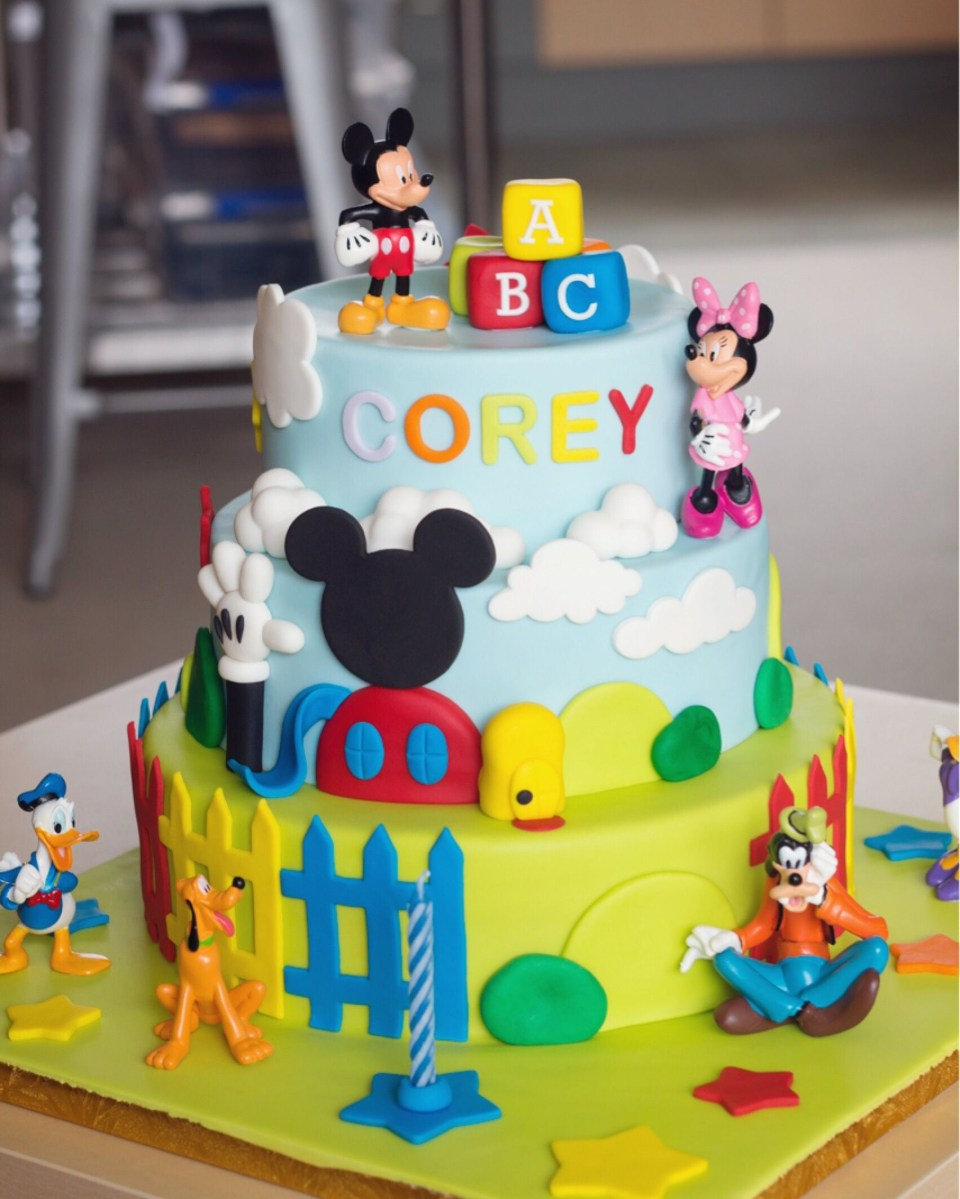 Mickey Mouse Clubhouse Birthday Cake Mickey Mouse Clubhouse 3 Tier Cake 3 Year Old Party Pinterest