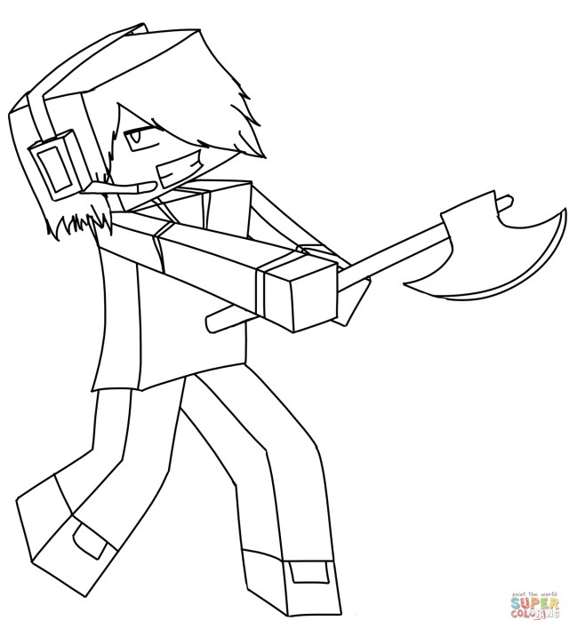 Mine Craft Coloring Pages Minecraft Coloring Pages Free Coloring Pages