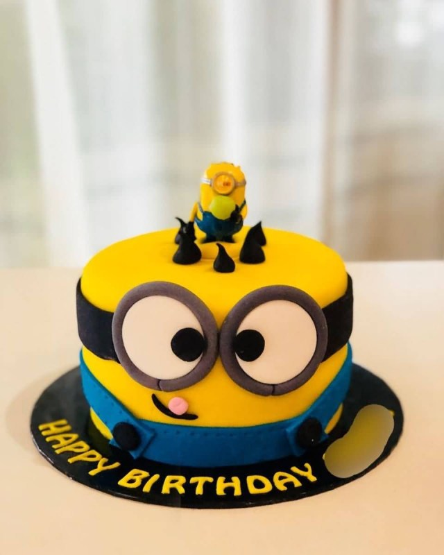 Minion Birthday Cake Happy Birthday Day Cake Hd Image Minion Cake The Ask Idea