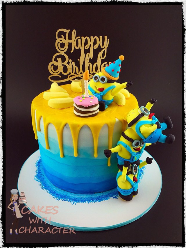 Minion Birthday Cake Minion Birthday Cake With Tower Of Fondant Minions Yellow Chocolate