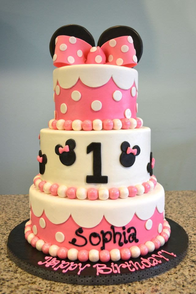Minnie Mouse Cakes 1St Birthday Minnie Mouse 1st Birthday Cake Ba Shower And 1st Birthday Cakes