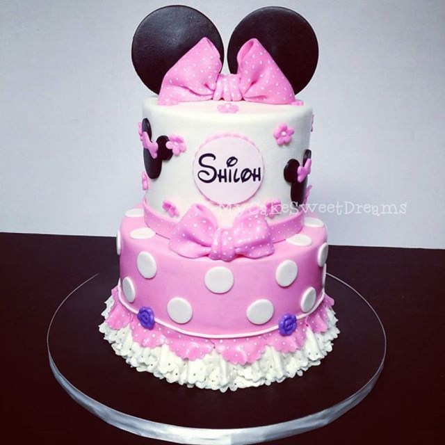 Minnie Mouse Cakes 1St Birthday Minnie Mouse 1st Birthday Cake Cakecentral