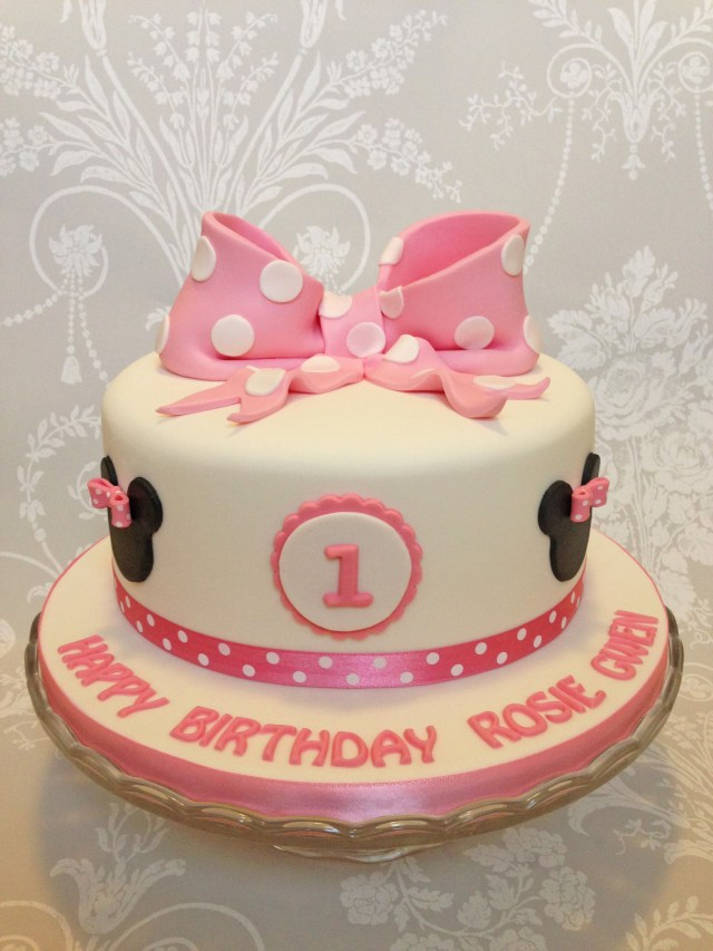 Minnie Mouse Cakes 1St Birthday Minnie Mouse Theme 1st Birthday Cake Queen Of Cakes My Little