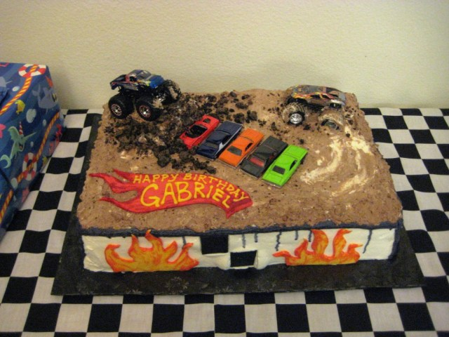Monster Truck Birthday Cake 6 Monster Truck Themed Birthday Cakes Photo Monster Truck Birthday